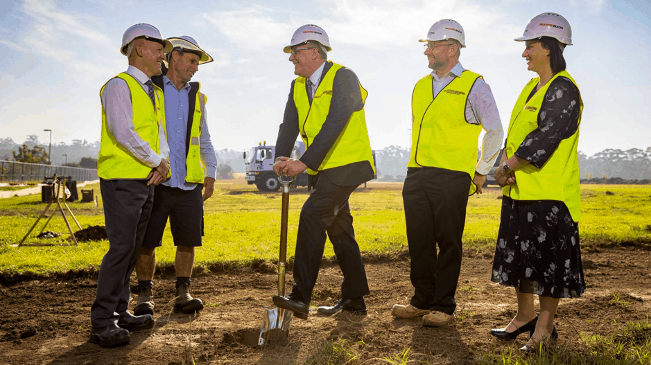 First sod turned on The Hills Grammar Playing Fields